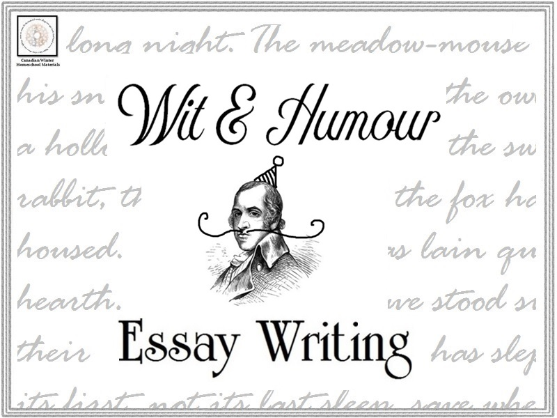 Essay Writing: Wit & Humour