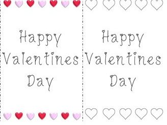 4 Printable Valentines Day Cards