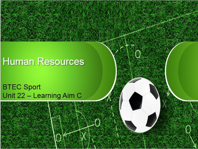 BTEC Sport L3 - Unit 22 - Learning Aim C