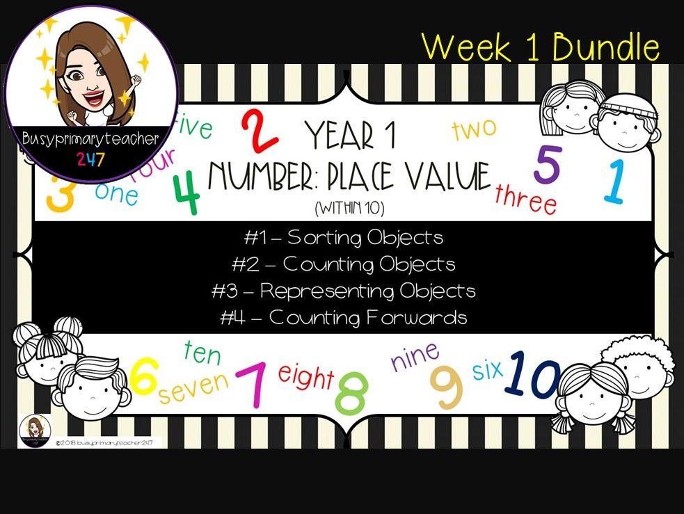Year 1 Place Value 0-10 Bundle 1