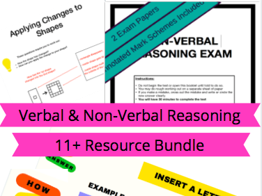 Verbal & Non-Verbal Reasoning 11+ Exam Preparation Bundle