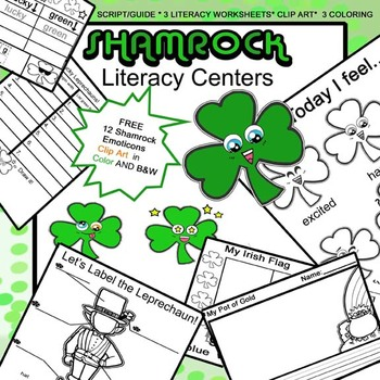 St Patricks Day Mega Clip Art And Ws Bundle For 4 Literacy Centers