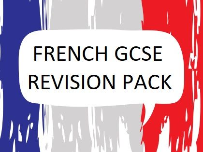 French GCSE Home Learning Revision pack