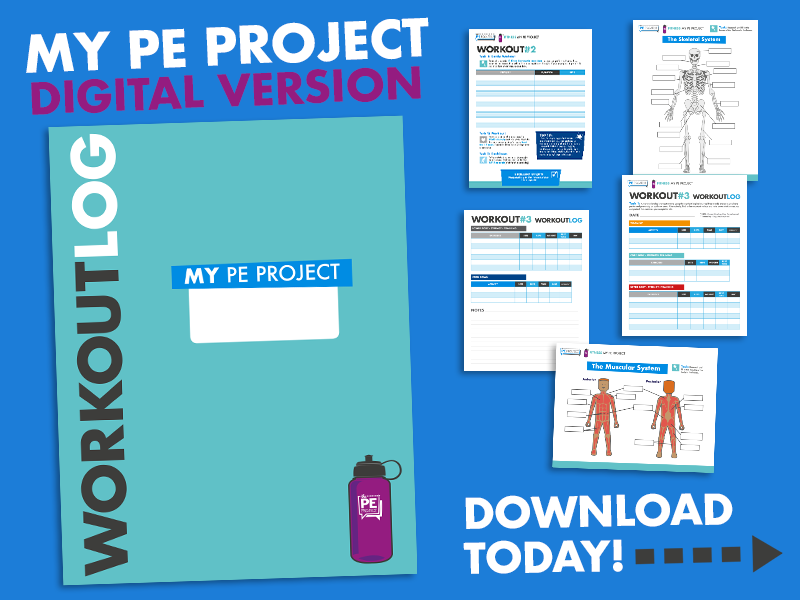 FREE - My PE Project: Workout Log/ Distance Learning
