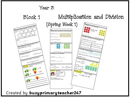 Year 3 - Question strips linked to WRM Spring block 1 - weeks 1-3