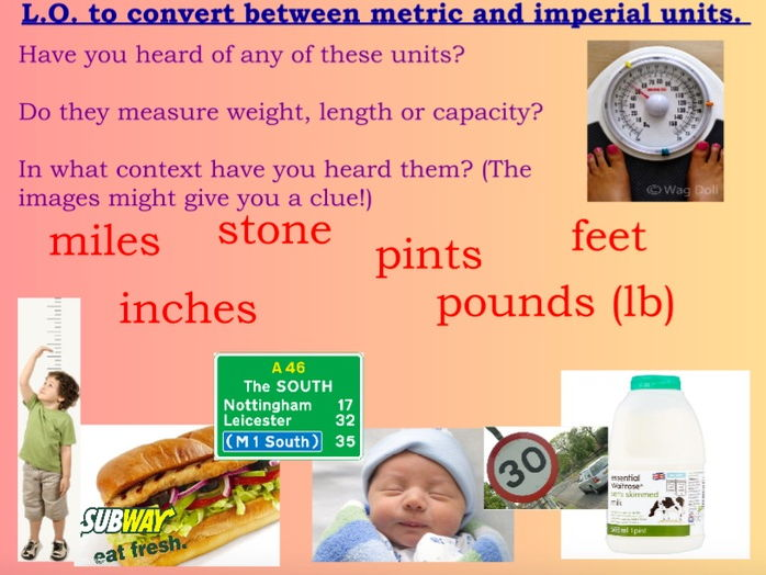 Y5/6 Imperial Units Lesson Maths Mastery Bar Models Images Reasoning