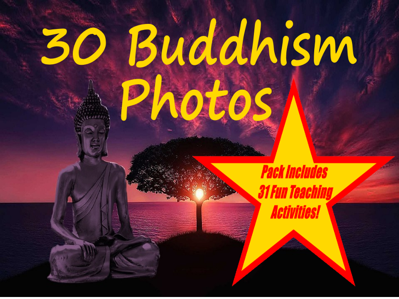 30 Buddhism Images PowerPoint Presentation + 31 Fun Teaching Activities For These Cards