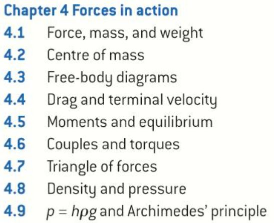 OCR AS level Physics: Forces in Action