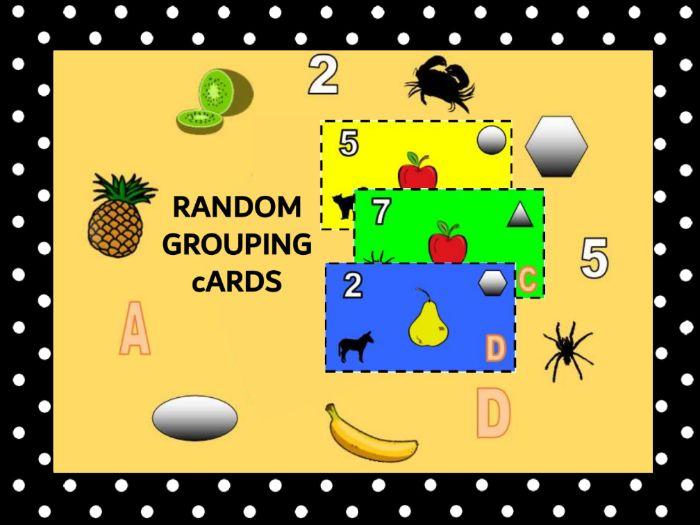 Random Grouping Cards