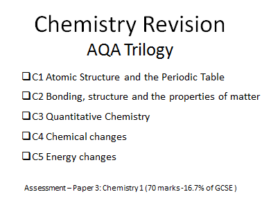 AQA Trilogy Chemistry revision topics 1-5