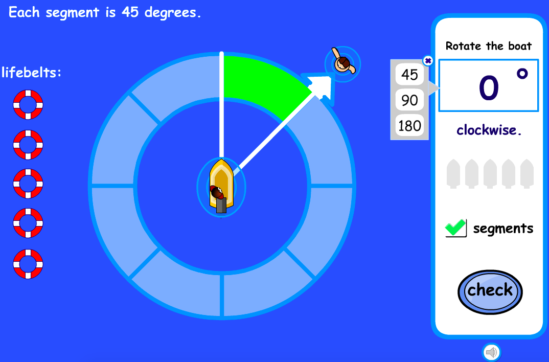 Choose the Angle Interactive Activity - KS2 Geometry