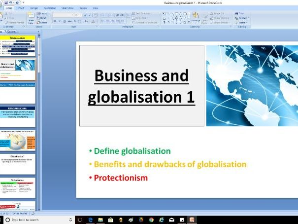 Edexcel GCSE Business Theme 2 - Business and globalisation