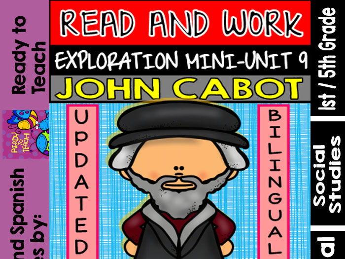 Exploration Mini-Unit 9 - John Cabot - Read and Work - Bilingual