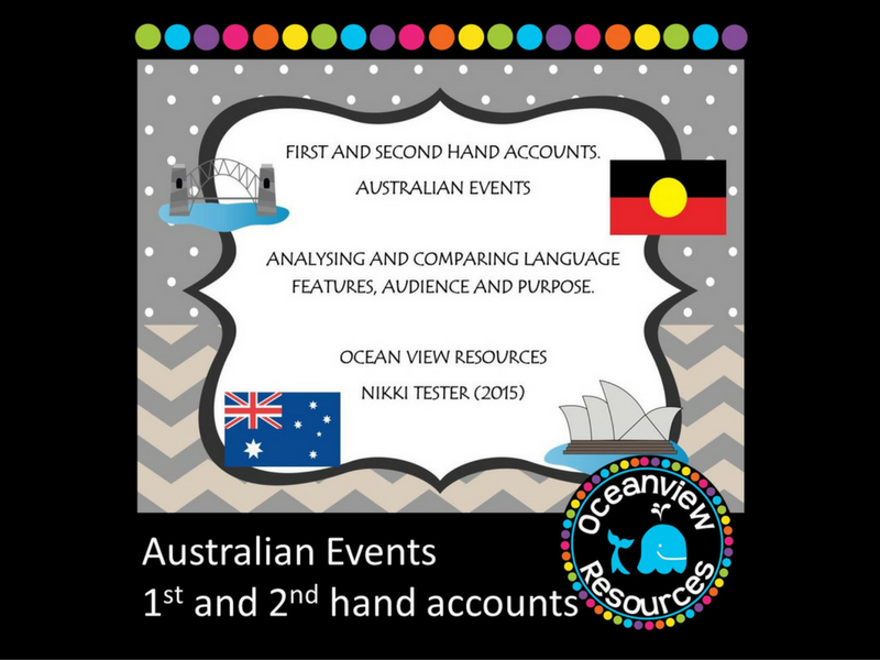 Analysing First and Second Hand Accounts- Australian events