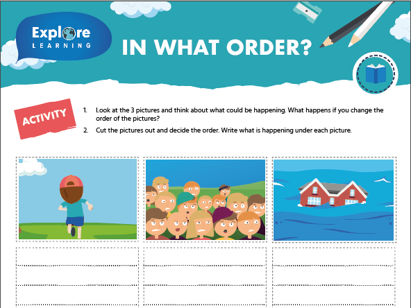 Free creative writing activity - In what order?