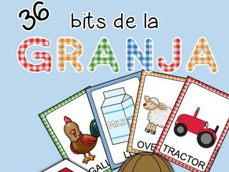 La granja - Tarjetas vocabulario -