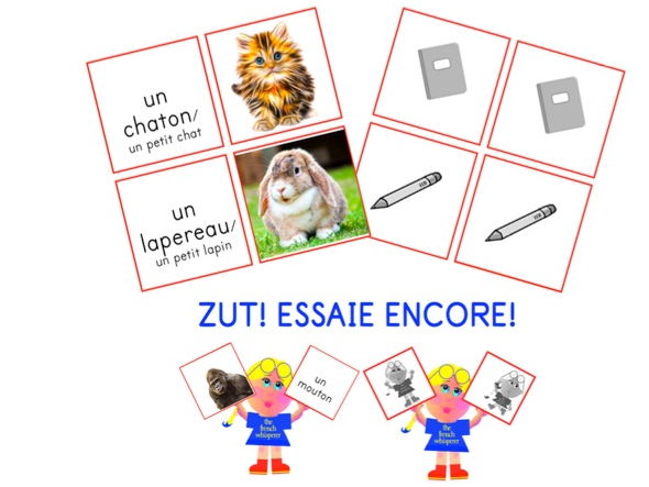 GET THE PICTURE? (Les animaux): a self-correcting game