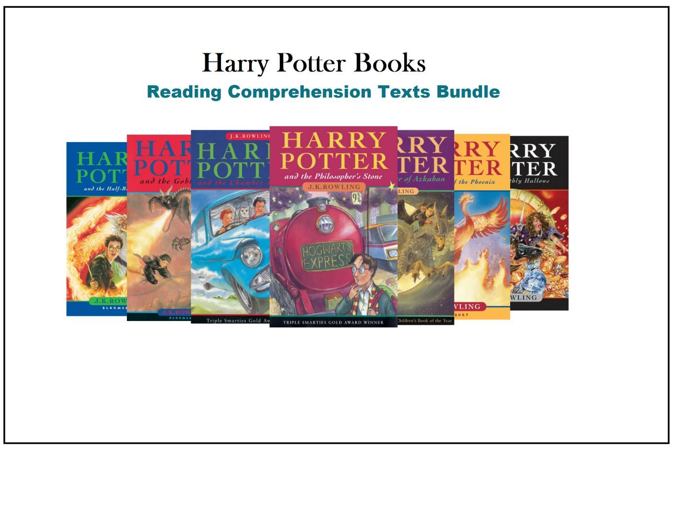 Harry Potter Reading Comprehension Texts Bundle / Novel Summaries (SAVE 65%)