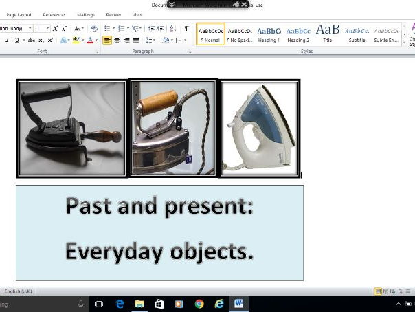 KS1&2 History resource photographs - everyday objects