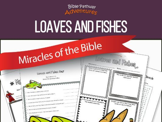 Bible Miracles: Loaves and Fishes workbook