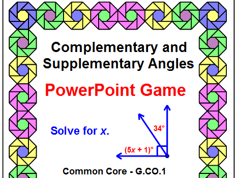 COMPLEMENTARY AND SUPPLEMENTARY POWERPOINT GAME