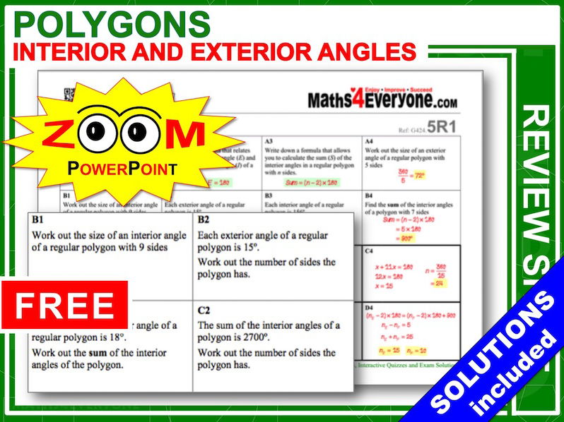 GCSE Revision (Interior and Exterior Angles)