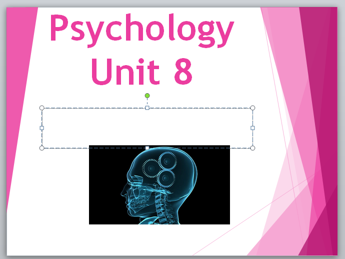 Health & Social Care-M2 Psychological Perspectives- Help/Actvity Sheet