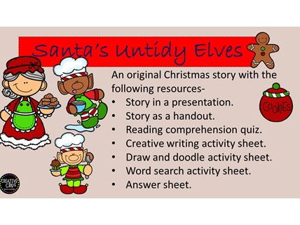Santa's Untidy Elves - A Christmas Activity lesson