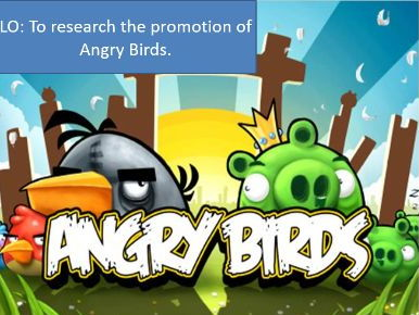 Media Studies: Angry Birds promotion, and case study including synergy