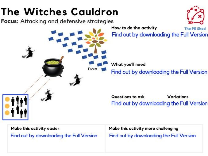 The Witches Cauldron - PE Strategy Halloween Game
