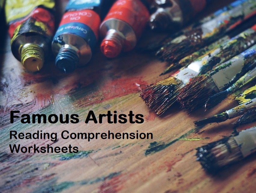 Famous Artists - Biographies Bundle - Reading Comprehension Worksheets