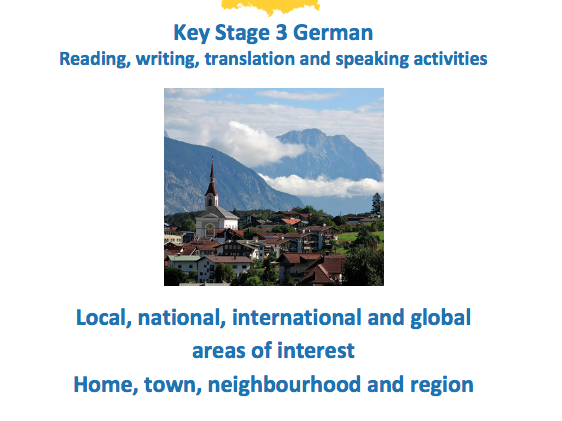 Key Stage 3 German - Where I live - New GCSE-style activities
