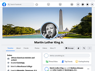 FACEBOOK PROFILE AND BIOGRAPHY STUDY GUIDE - Martin Luther King Jr.