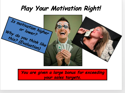 Play Your Motivation Right Game - GCSE Motivation Lesson