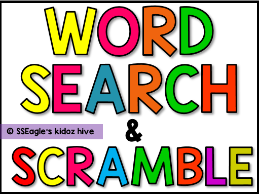 Distance Learning Word search