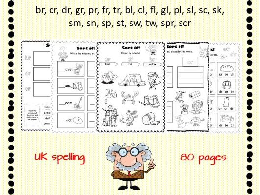Sound Sort Worksheets Initial Consonant Blends