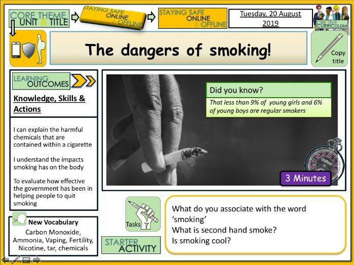 Dangers of Smoking PSHE Lesson