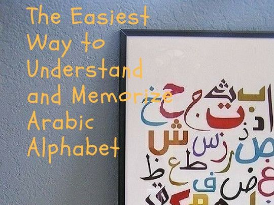 Easiest Way To Understand and Memorize Arabic Alphabet