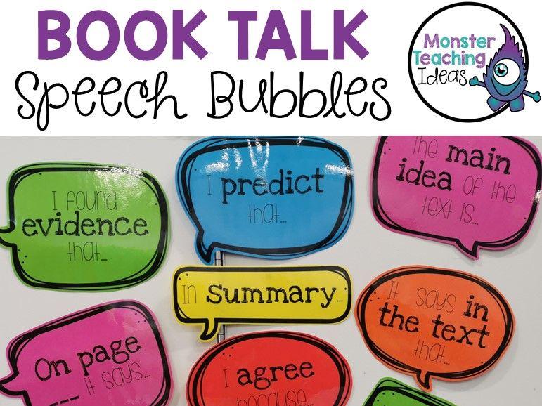 Book Talk Speech Bubbles