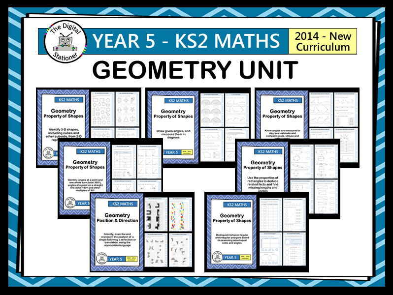 Year 5 - Geometry Unit (inc. mastery. White Rose)