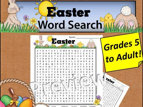 Easter Word Search *Hard*