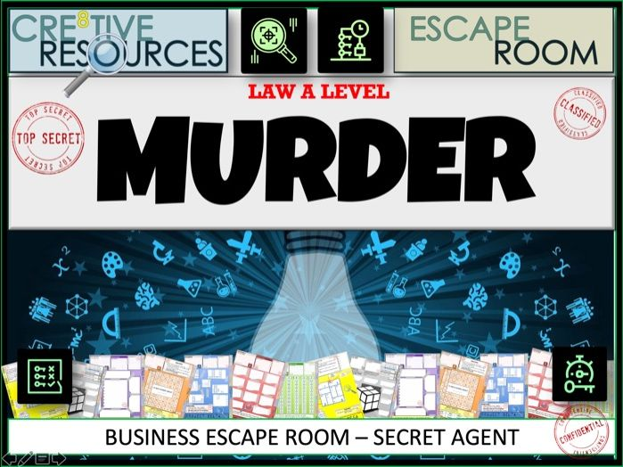 Law A level Escape Room - Murder