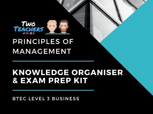 BTEC L3 Business: Principles of Management Knowledge Organiser & Exam Prep Kit