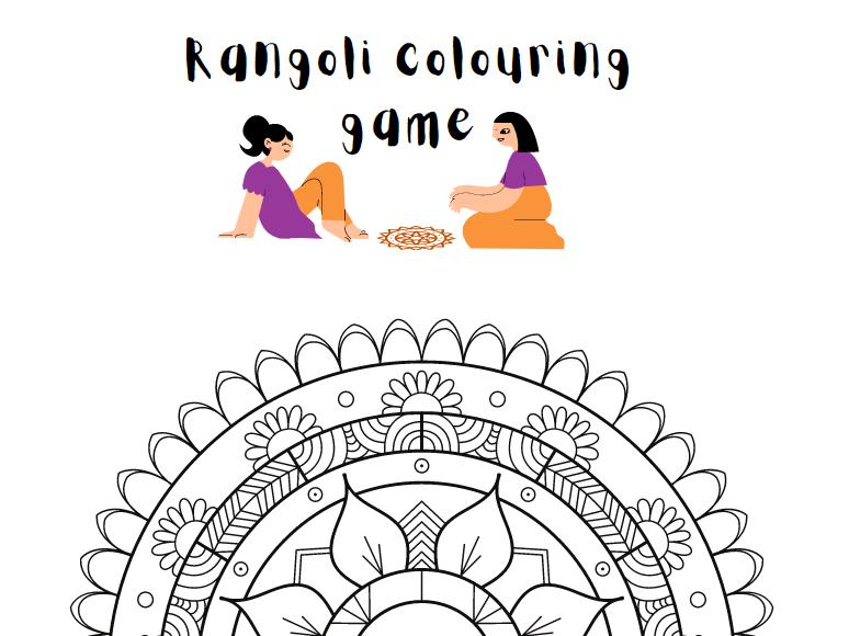 Rangoli Colour-in Activity