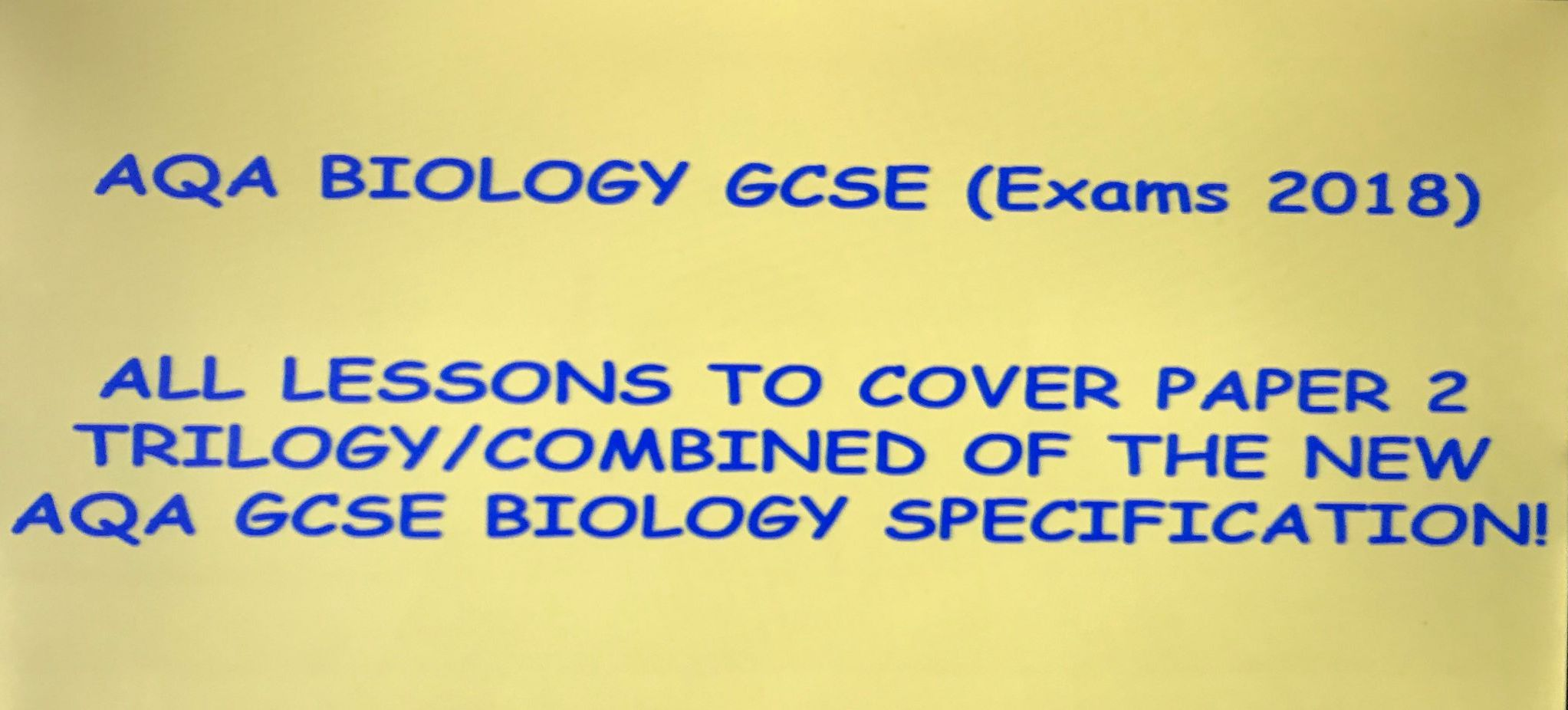 AQA New GCSE Biology (Exams 2018) - Entire Paper 2 combined science resource pack