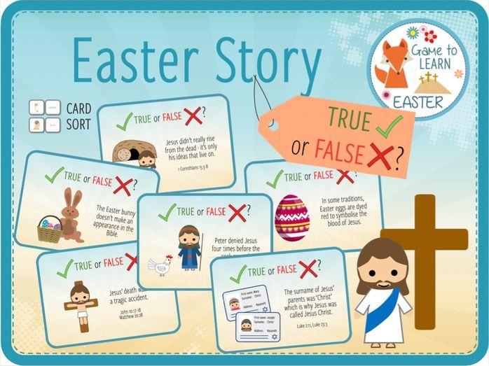 Easter Story - True or False?  Card Sort