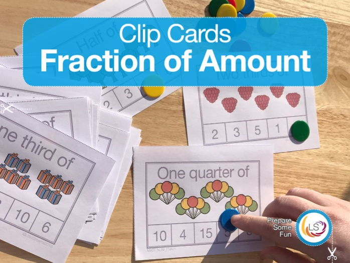 Fraction of Amount - Clip Cards