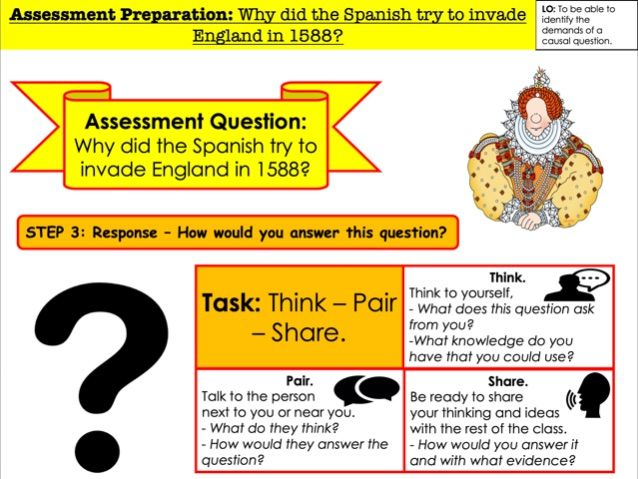 Assessment Preparation Why did the Spanish try to invade England?