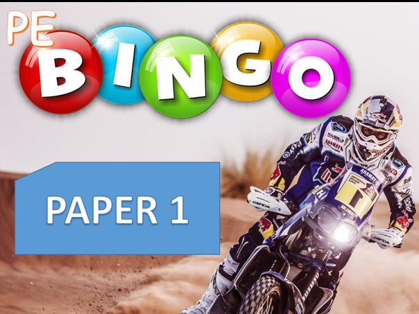 GCSE PE Edexcel - Paper 1 Bingo