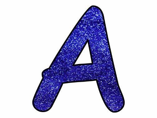 The Letter A In Blue Glitter | www.pixshark.com - Images ...
